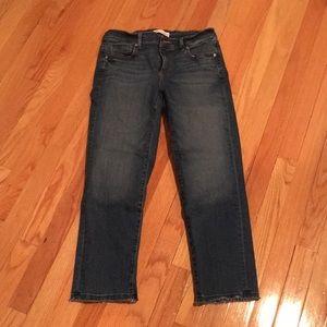LOFT Straight Crop jeans